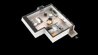 appartement 296 de type T1
